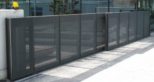 Secure fence and access gate located in Chapel Hill for commercial and business property