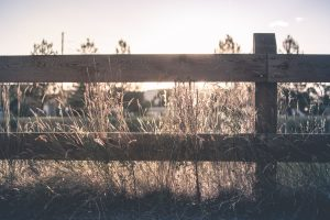 Wooden ranch fence in Chapel Hill